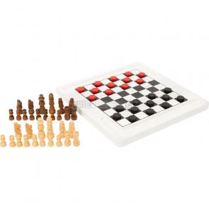 small foot Dřevěné šachy a dáma [11395]