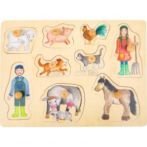 small foot Dřevěné puzzle Život na farmě [11500]