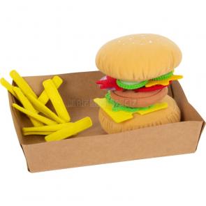 small foot Látkový hamburger s hranolkami [11686]