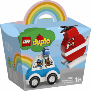 LEGO DUPLO 10957 Hasičský vrtulník a policejní auto [10957]