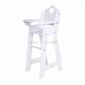 Židle pro panenky bílá