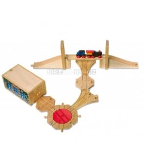 Vláčkodráha - most, depo, točna, výhybky